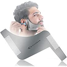 MYCARBON Beard Trimming Guide,Stainless Steel Beard Shaping Tool with Comb for Multiple Beard Styles,Beard Grooming Kit with Handle for men,Easy Shape Beard Template for cheek/neck/jaw line,Mustache