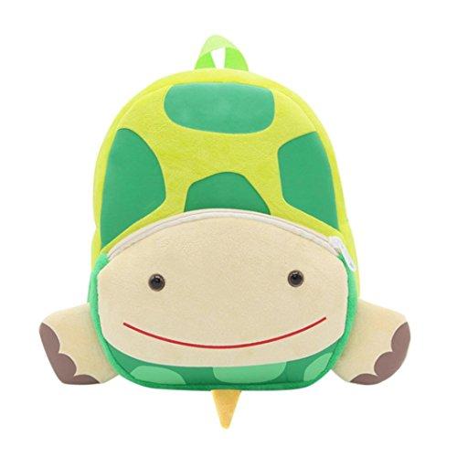 Rucan Cute Cartoon Animal Backpack Kids Book Bag School Backpack for Children Toddler Girls Boys (small turtle)