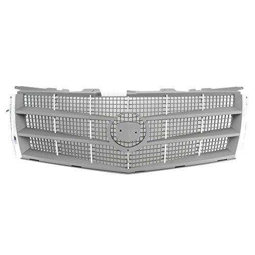 Titanium Plus 2008-2012 Cadillac CTS Front GRILLE CHROME SILVER/GRAY