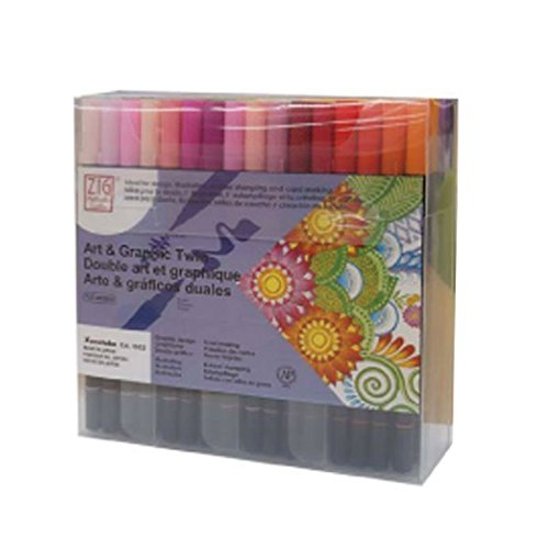Kuretake Zig Art   Graphic Twin Marker 80 Color Set Tut 80   80V