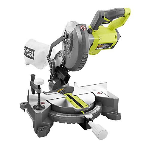 RYOBI 18-Volt ONE+ Cordless 7-1/4 in. Compound Miter Saw (Tool Only) with Blade