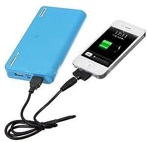 20000mAh Wallet Style Dual USB External Power Bank 5V 2A 1A Portable Charger Blue
