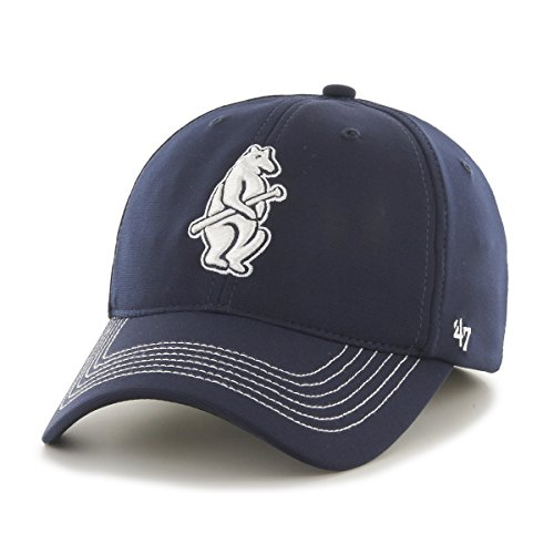 MLB Chicago Cubs Game Time Closer Stretch Fit Hat, One Size, Navy
