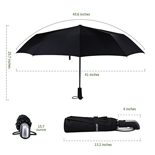 Yooso Travel Umbrella 10 Ribs Finest Windproof Umbrella with Teflon Coating by Yooso (Image #1)