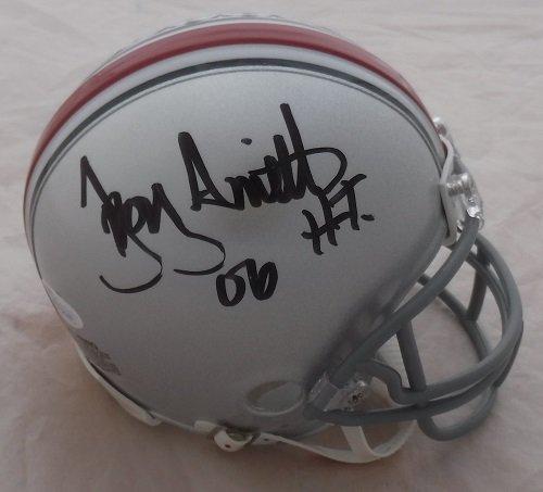 Troy Smith Autographed Ohio State Buckeyes Riddell Mini Helmet