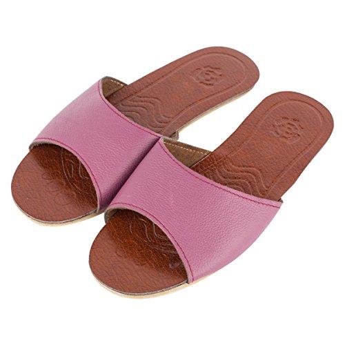 Pantofole Da Donna Estate Allaperto Haisum Pantofole Aperte Pantofole Di Cuoio Accogliente Slip On Sandali Di Casa Viola