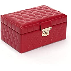 WOLF 329872 Caroline Small Jewelry Case, Red