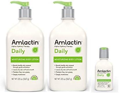 AmLactin Moisturizing Body Lotion, 40 Ounces, with 2 oz. Travel Size