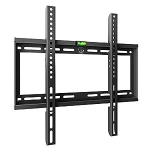 Famgizmo Support TV Mural Ultra-Mince Type Fixe pour téléviseur de 23-55 Pouces (58-140cm), Vesa 100×100-400x400mm…