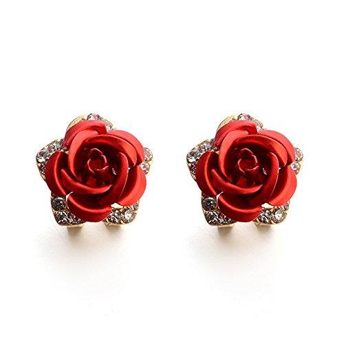 - LODDD 2019 Fashion Jewelry Bohemia Flower Rhinestone Earrings For Women Summer Style Casual Earrings