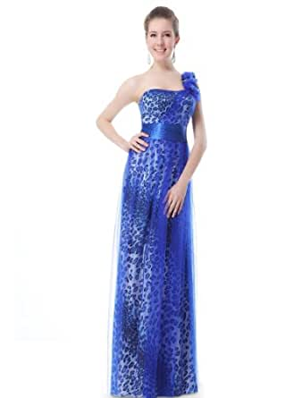 HE09910BL06, Blue, 4US, Ever Pretty Prom Party Dresses 2014 09910