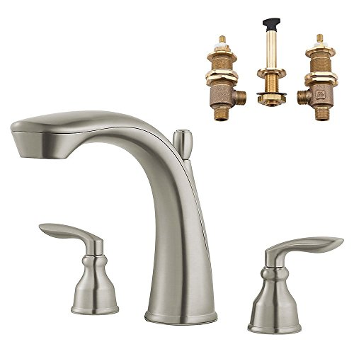 Pfister KRT65CB1-R-BN Avalon Roman Tub Trim with Adjustable Rough, Brushed Nickel, 1, Avalon Roman Tub Faucet