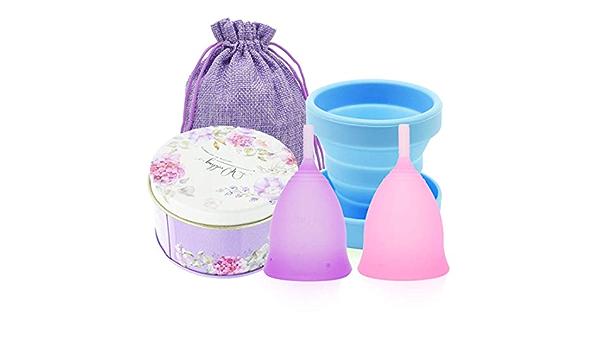 Copa Menstrual, suave grado médico Menstrual Cup silicona 2 ...