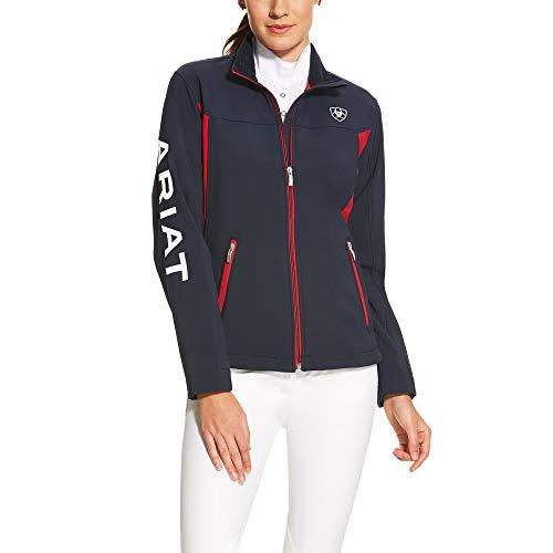 Ariat Women's New Team Softshell Jacket, Navy, XL Regular