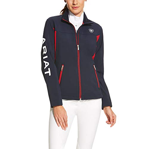 Ariat Women's New Team Softshell Jacket, Navy, Small
