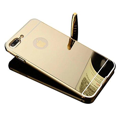 Aluminum Metal Bumper Case for Apple iPhone 7 (Gold) - 8