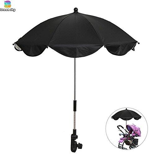 (NPLE--Baby Stroller Wheelchair Pushchair Umbrella Sun Shade Parasol Rain Canopy Cover)
