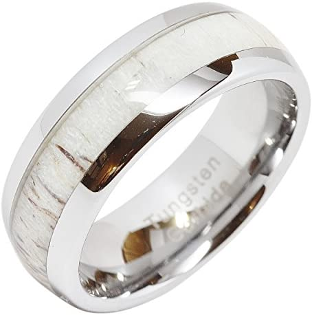 100S JEWELRY Tungsten Wedding Antler