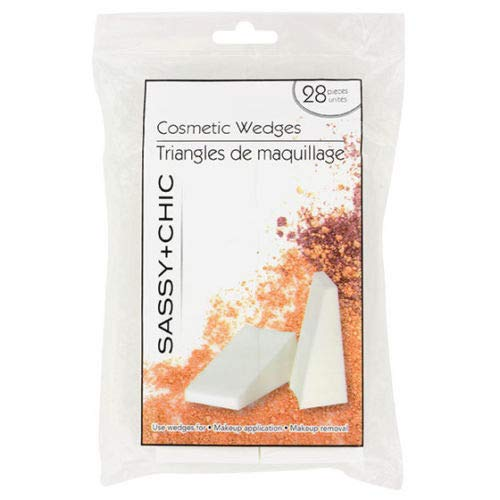 Sassy + Chic Professional Cosmetic Makeup Wedges (Pack of 28)