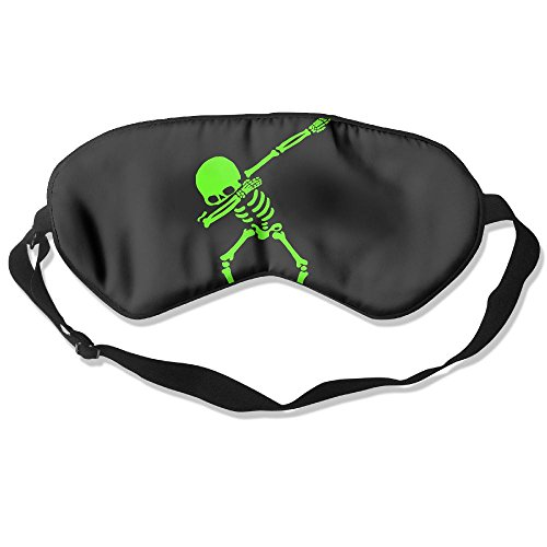 Sleep Mask Dabbing Unicorn Green Skeleton Adjustable Sleep Silkworm Eye Mask