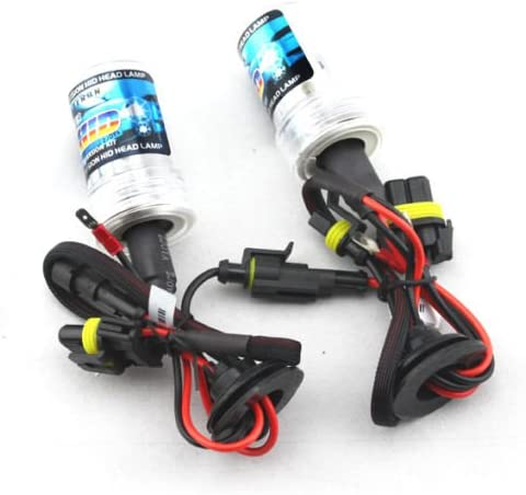 55W H7 HID Xenon Conversion Kit 8000K Ice Blue Headlight Bulbs with Slim Canbus Ballast for Car Super Bright Easy Installation
