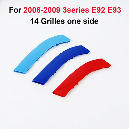 For 2006-2009 BMW 3 series E92 E93 318i 320i 325i 328i 330i 335i 320d 325d 3D M Front Grill Insert Trim Strip grille Cover Stickers