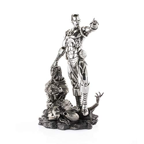 Royal Selangor Hand Finished Marvel Collection Pewter Limited Edition Iron Man & Ultron Replica