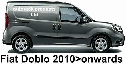 AutoRack WorkReady PORTATUTTO Fiat DOBLO Van 3 Barre Mk2 dal 2010 in Poi con Rullo Posteriore