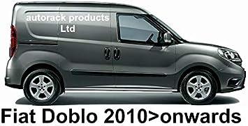 AutoRack WorkReady PORTATUTTO Fiat DOBLO Van 3 Barre Mk2 con Rullo Posteriore dal 2010 in Poi