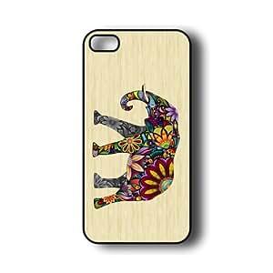 iPhone 5 Case ThinShell Case Protective iPhone 5 Case Elephant On Wood