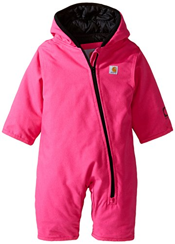 - Carhartt Baby Girls' Quick Duck Snowsuit Taff Lined, Pink, 12 Months