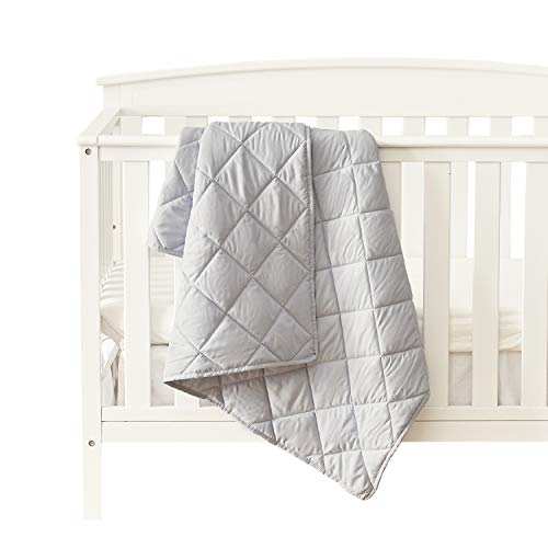 EXQ Home Baby Toddler Quilt Blanket for Girls & Boys,39×47 Inches Polyester Toddler Nursing Blanket for Infant and Newborn, Ultra Soft Toddler Comforter for Crib Bed,Stroller,Travel(Silver Grey)