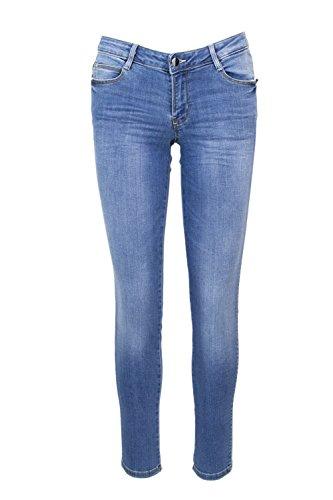 Donna W82aj2 Denim Guess D32b0 Jeans Skinny Chiaro X Curve T7x5qO