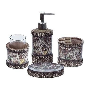 Camo 4 Piece Bathroom Set