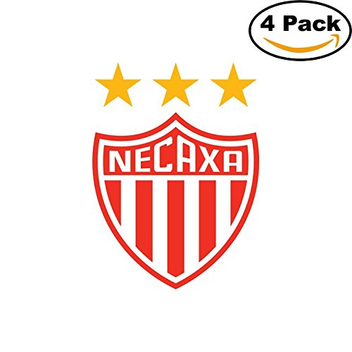 fan products of Necaxa Soccer Liga MX Mexico Decal Logo 4 Stickers 4X4 1