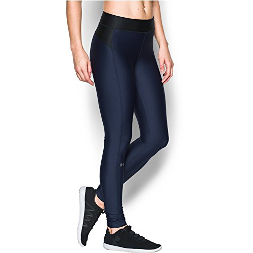 Under Armour Women's HeatGear Armour Legging, Midnight Navy/Black, X-Large