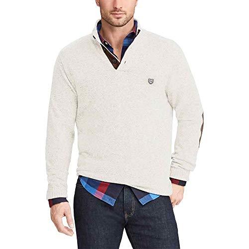 Chaps Men's Classic Fit Twist Button Mock Sweater, Arctic, XXL