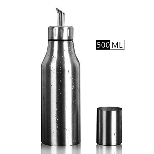PER-HOME Stainless Steel Olive Oil Dispenser Leakproof Kitchen Oil Bottle