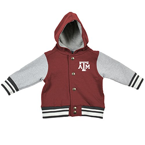 NCAA Texas A&M Aggies Children Unisex Infant Letterman Jacket, 6 Months, Maroon/Oxford ()