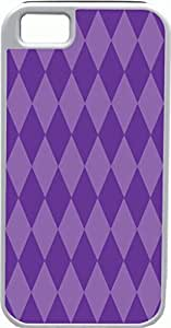 iPhone 5 Case iPhone 5S Case Cases Customized Gifts Cover Diamond Pattern Design Dark Purple and Light Purple - Ideal Gift