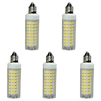 E11 led bulb dimmable 75W 100W halogen bulbs replacement, 1100lm, jd e11 mini candelabra base 110V 120V 130V input, Daylight white 6000K (pack of 5)