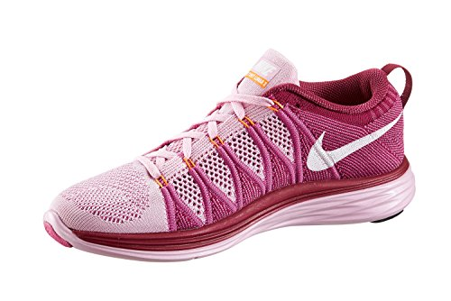 Nike Womens Wmns Flyknit Lunar2, Lt Arctc Rosa / Bianco-rd Violetto-lampone Lt Arctc Rosa / Bianco-rd Violetto-lampone