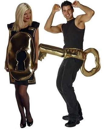 Lock and Key Fun Couples Costume Set  sc 1 st  Amazon.com & Amazon.com: Lock and Key Fun Couples Costume Set: Clothing