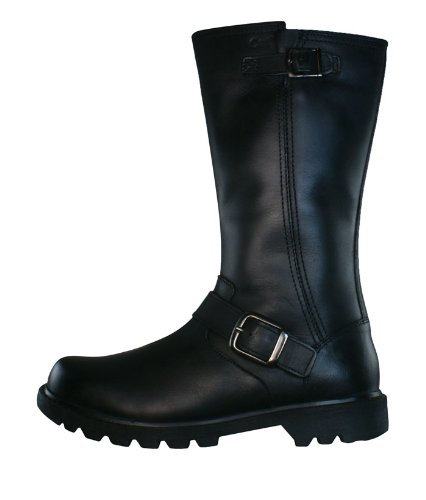 """Caterpillar Everyday 11"""" Biker Womens Leather Boots - Black - SIZE US 5"""
