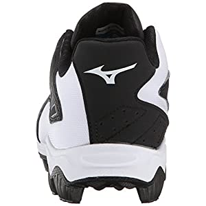 Mizuno Men's 9 Spike ADV Franchise 8 Baseball Cleat, Black/White, 9.5 M US