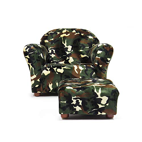 KEET Roundy Kid s Chair with Ottoman, Camo