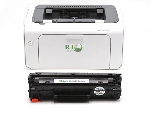 RT M12W Check Printing Bundle: 1 M12W LaserJet Pro Printer and 1 CF279A / 79A Modified MICR Toner Cartridge for Check Printing (Micr Laser Check Printer)