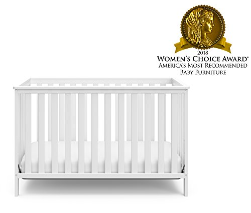 41D0mkj8qwL - Storkcraft Rosland 3-in-1 Convertible Crib - White