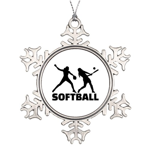 7th Gener Ideas For Decorating Christmas Trees Softball Snowflake Ornament (Softball Decorating Ideas)