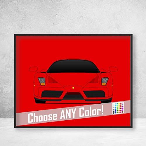 Ferrari Enzo Supercar Poster Print Wall Art Decor Handmade ()